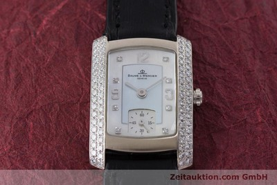 BAUME & MERCIER HAMPTON 18 CT WHITE GOLD QUARTZ KAL. BM10163 ETA 980.163 LP: 7300EUR [160503]
