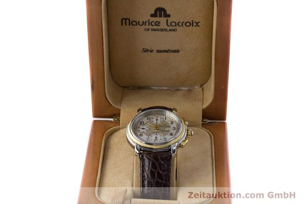 Used luxury watch Maurice Lacroix Masterpiece chronograph ceramic / gold automatic Kal. ML67 ETA 7750 Ref. 67668  | 160504 07