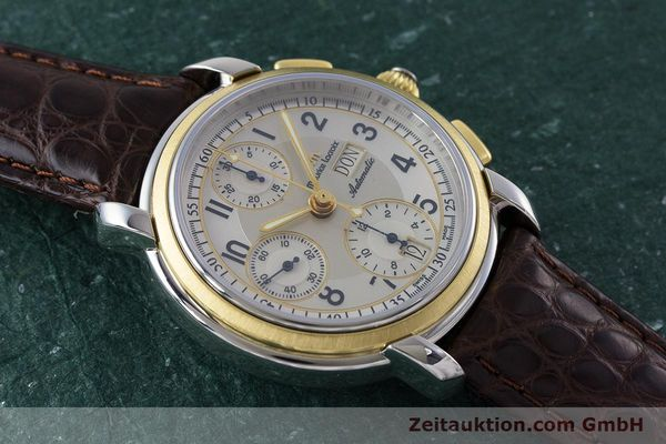 Used luxury watch Maurice Lacroix Masterpiece chronograph ceramic / gold automatic Kal. ML67 ETA 7750 Ref. 67668  | 160504 12