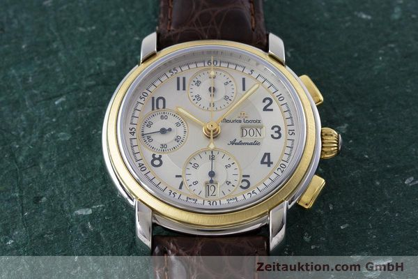 Used luxury watch Maurice Lacroix Masterpiece chronograph ceramic / gold automatic Kal. ML67 ETA 7750 Ref. 67668  | 160504 13