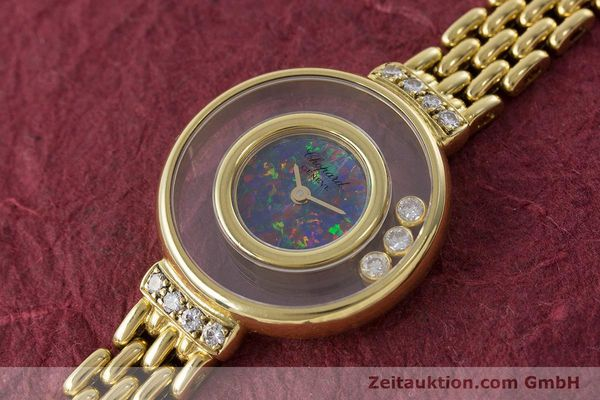 gebrauchte Luxusuhr Chopard Happy Diamonds 18k Gold Quarz Ref. 4100  | 160506 01