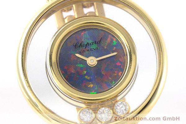 gebrauchte Luxusuhr Chopard Happy Diamonds 18k Gold Quarz Ref. 4100  | 160506 02