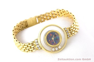 CHOPARD LADY 18K GOLD HAPPY DIAMONDS DAMENUHR DIAMANTEN REF 4100 VP: 15870,- Euro [160506]