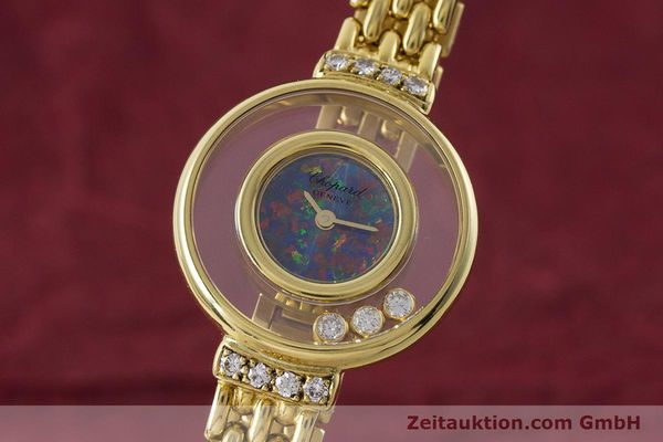 gebrauchte Luxusuhr Chopard Happy Diamonds 18k Gold Quarz Ref. 4100  | 160506 04