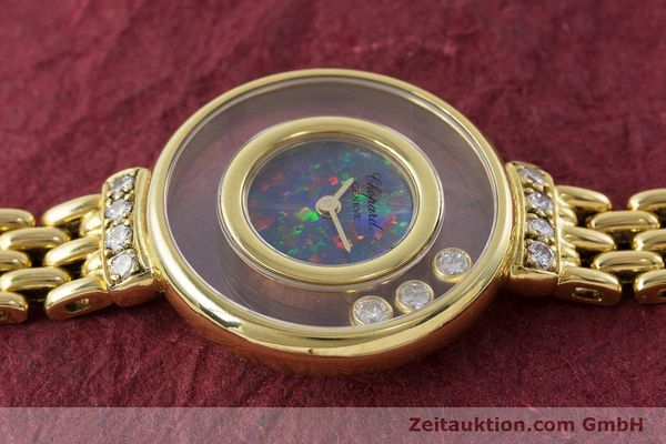 gebrauchte Luxusuhr Chopard Happy Diamonds 18k Gold Quarz Ref. 4100  | 160506 05