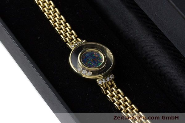 gebrauchte Luxusuhr Chopard Happy Diamonds 18k Gold Quarz Ref. 4100  | 160506 07