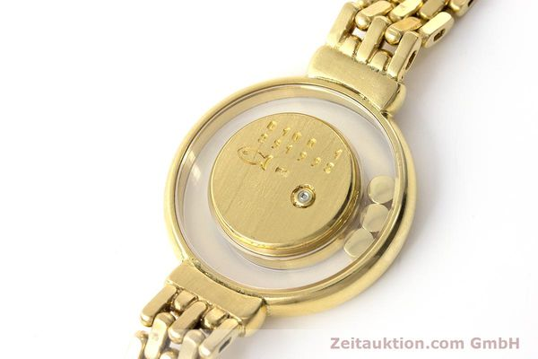 gebrauchte Luxusuhr Chopard Happy Diamonds 18k Gold Quarz Ref. 4100  | 160506 08