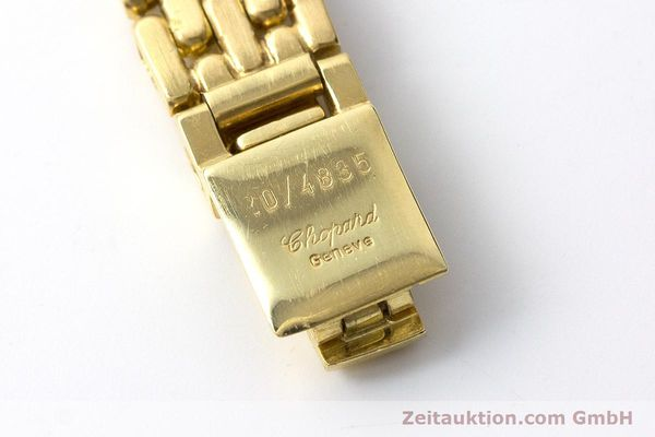 gebrauchte Luxusuhr Chopard Happy Diamonds 18k Gold Quarz Ref. 4100  | 160506 11