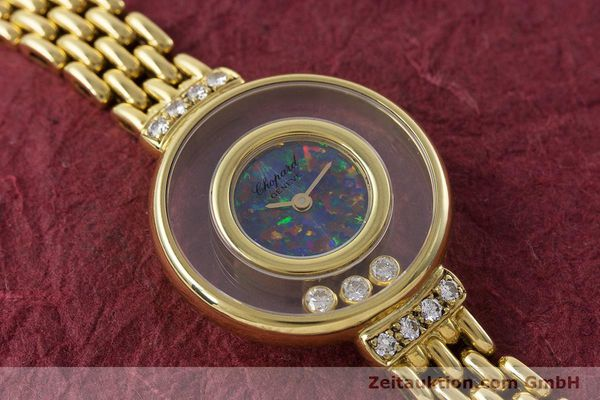gebrauchte Luxusuhr Chopard Happy Diamonds 18k Gold Quarz Ref. 4100  | 160506 13