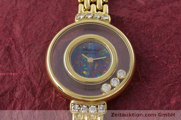 gebrauchte Luxusuhr Chopard Happy Diamonds 18k Gold Quarz Ref. 4100  | 160506 14