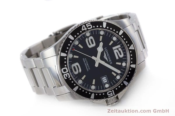 Used luxury watch Longines Hydro Conquest steel automatic Kal. L 633.5 ETA 2824-2 Ref. L3.641.4  | 160509 03