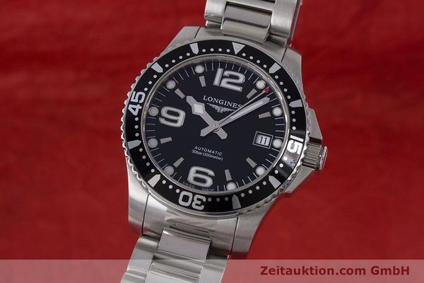Used luxury watch Longines Hydro Conquest steel automatic Kal. L 633.5 ETA 2824-2 Ref. L3.641.4  | 160509 04