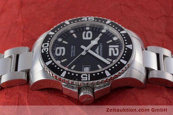 Used luxury watch Longines Hydro Conquest steel automatic Kal. L 633.5 ETA 2824-2 Ref. L3.641.4  | 160509 05