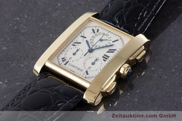 Used luxury watch Cartier Tank Francaise 18 ct gold quartz Kal. 212P Ref. 1830  | 160511 01
