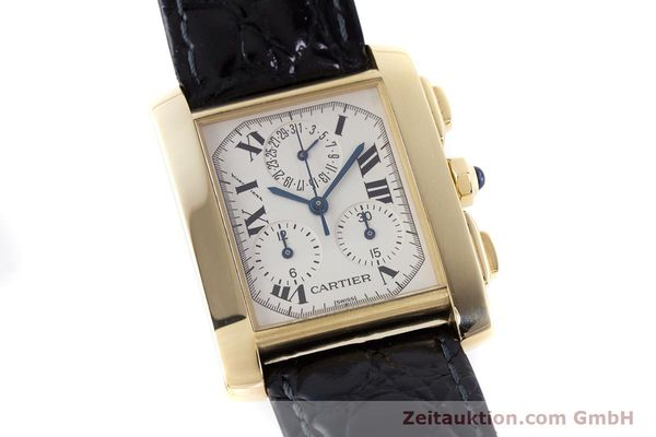 Used luxury watch Cartier Tank Francaise 18 ct gold quartz Kal. 212P Ref. 1830  | 160511 02