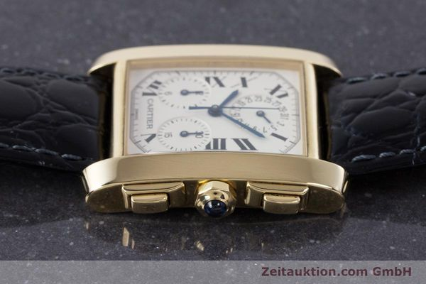 Used luxury watch Cartier Tank Francaise 18 ct gold quartz Kal. 212P Ref. 1830  | 160511 05