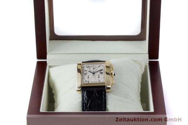 Used luxury watch Cartier Tank Francaise 18 ct gold quartz Kal. 212P Ref. 1830  | 160511 07