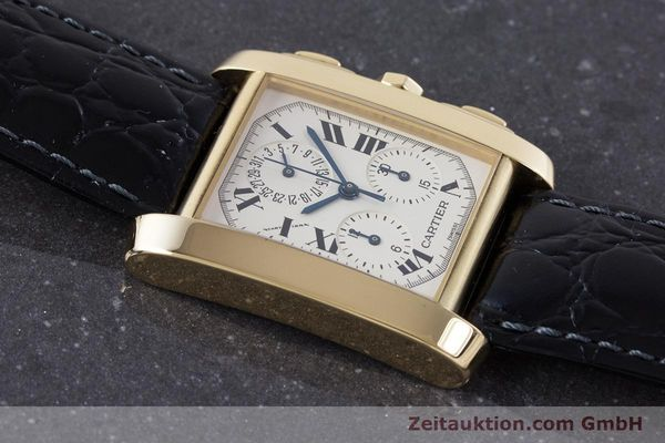 Used luxury watch Cartier Tank Francaise 18 ct gold quartz Kal. 212P Ref. 1830  | 160511 14