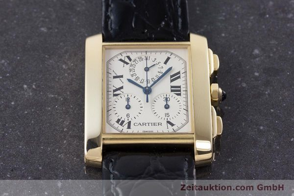Used luxury watch Cartier Tank Francaise 18 ct gold quartz Kal. 212P Ref. 1830  | 160511 15