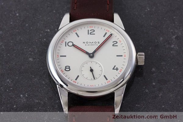 Used luxury watch Nomos Club steel manual winding Kal. Alpha  | 160523 16