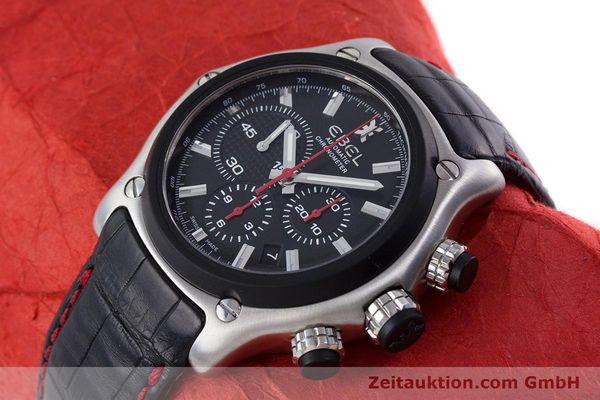 Used luxury watch Ebel 1911 chronograph steel automatic Kal. E 137 Ref. 9137L73  | 160543 01