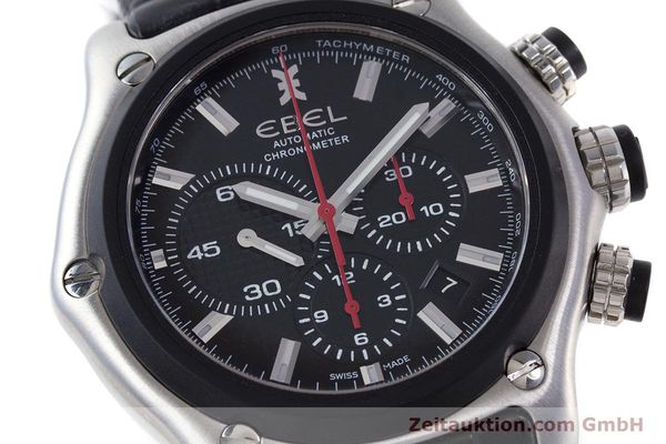 Used luxury watch Ebel 1911 chronograph steel automatic Kal. E 137 Ref. 9137L73  | 160543 02