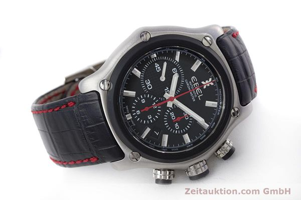 Used luxury watch Ebel 1911 chronograph steel automatic Kal. E 137 Ref. 9137L73  | 160543 03