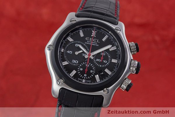 Used luxury watch Ebel 1911 chronograph steel automatic Kal. E 137 Ref. 9137L73  | 160543 04