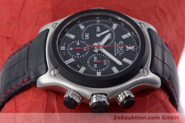 Used luxury watch Ebel 1911 chronograph steel automatic Kal. E 137 Ref. 9137L73  | 160543 05