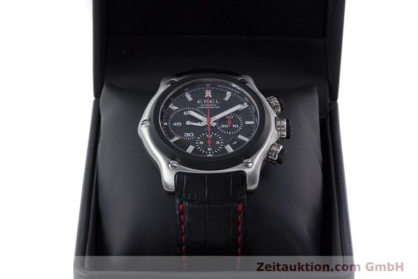Used luxury watch Ebel 1911 chronograph steel automatic Kal. E 137 Ref. 9137L73  | 160543 07