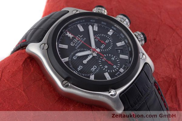 Used luxury watch Ebel 1911 chronograph steel automatic Kal. E 137 Ref. 9137L73  | 160543 14