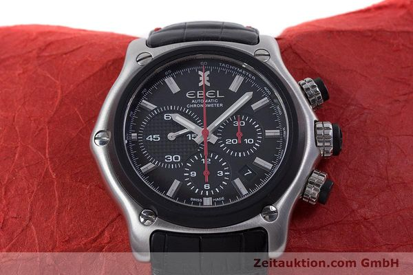 Used luxury watch Ebel 1911 chronograph steel automatic Kal. E 137 Ref. 9137L73  | 160543 15