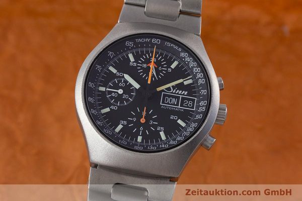 Used luxury watch Sinn 157 chronograph steel automatic Kal. LWO 5100  | 160553 04