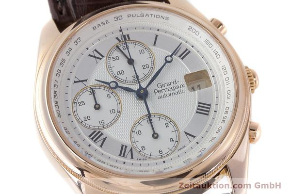 Used luxury watch Girard Perregaux Olimpico chronograph 18 ct gold automatic Kal. 8000-264 Ref. 4910  | 160565 02