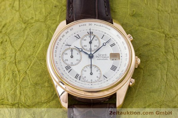 Used luxury watch Girard Perregaux Olimpico chronograph 18 ct gold automatic Kal. 8000-264 Ref. 4910  | 160565 15