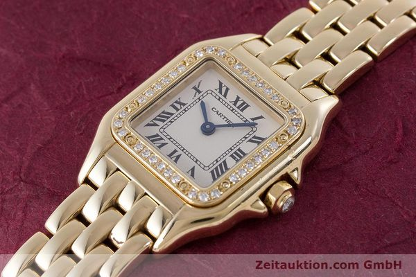 Used luxury watch Cartier Panthere 18 ct gold quartz Kal. 157.06 Ref. 12802   | 160567 01