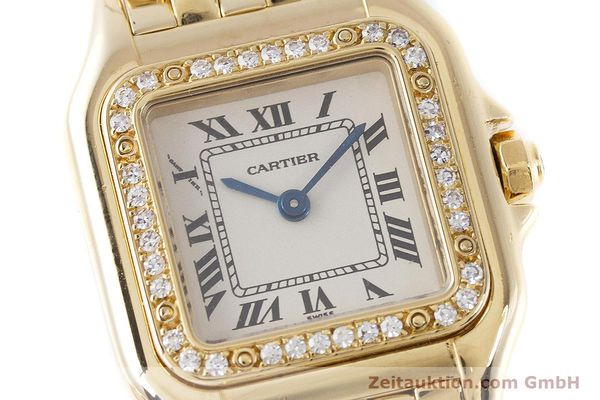 Used luxury watch Cartier Panthere 18 ct gold quartz Kal. 157.06 Ref. 12802   | 160567 02
