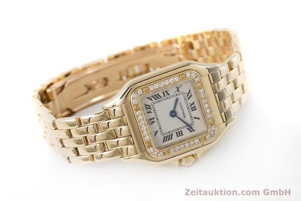 Used luxury watch Cartier Panthere 18 ct gold quartz Kal. 157.06 Ref. 12802   | 160567 03