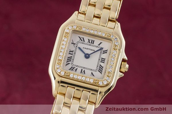Used luxury watch Cartier Panthere 18 ct gold quartz Kal. 157.06 Ref. 12802   | 160567 04