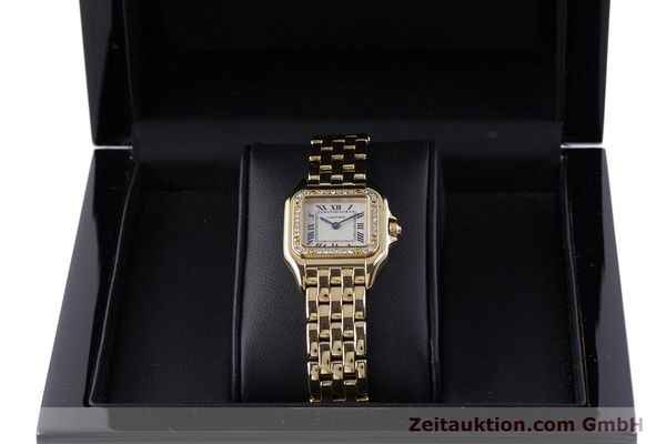 Used luxury watch Cartier Panthere 18 ct gold quartz Kal. 157.06 Ref. 12802   | 160567 07