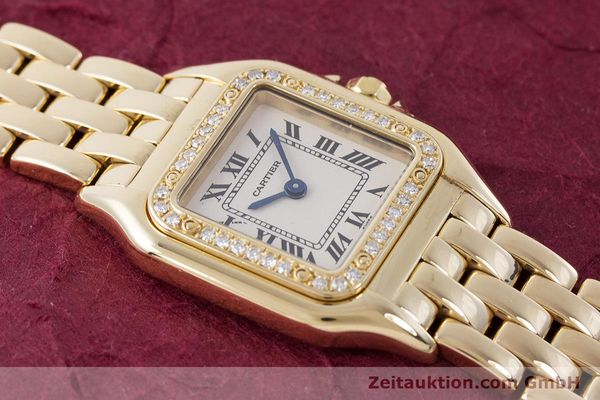 Used luxury watch Cartier Panthere 18 ct gold quartz Kal. 157.06 Ref. 12802   | 160567 13
