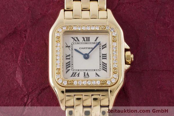 Used luxury watch Cartier Panthere 18 ct gold quartz Kal. 157.06 Ref. 12802   | 160567 14