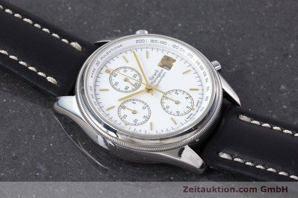Used luxury watch Girard Perregaux Olimpico chronograph steel automatic Kal. 800-014 Ref. 4900  | 160570 12