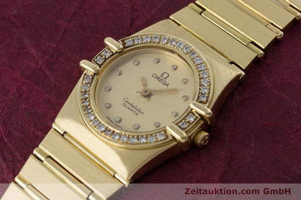Used luxury watch Omega Constellation 18 ct gold quartz Kal. 1450  | 160571 01