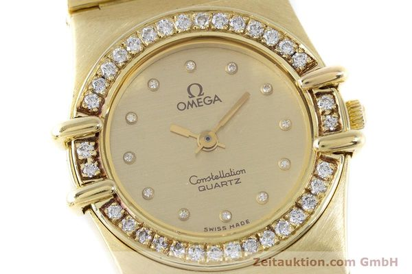 Used luxury watch Omega Constellation 18 ct gold quartz Kal. 1450  | 160571 02