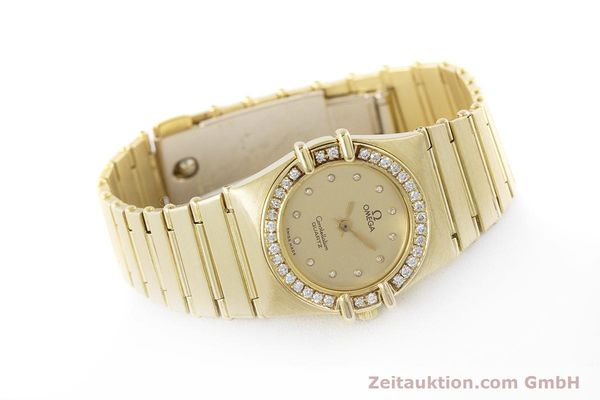 Used luxury watch Omega Constellation 18 ct gold quartz Kal. 1450  | 160571 03