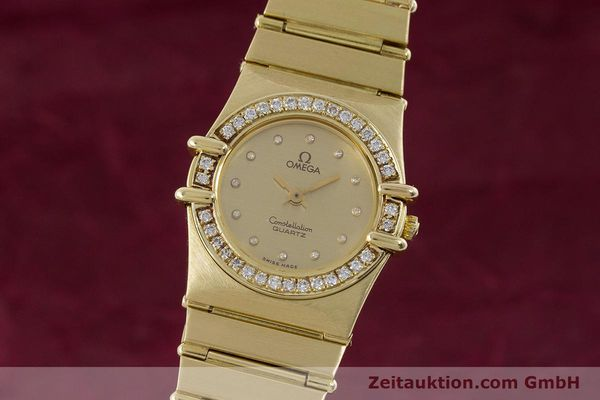 OMEGA LADY 18K GOLD CONSTELLATION DIAMANTEN DAMENUHR VP: 22100,- EURO [160571]