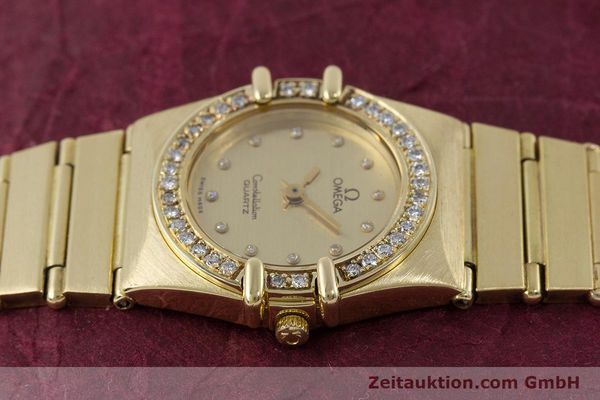 Used luxury watch Omega Constellation 18 ct gold quartz Kal. 1450  | 160571 05