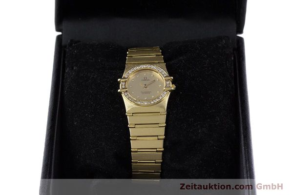 Used luxury watch Omega Constellation 18 ct gold quartz Kal. 1450  | 160571 07