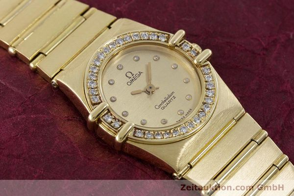Used luxury watch Omega Constellation 18 ct gold quartz Kal. 1450  | 160571 14
